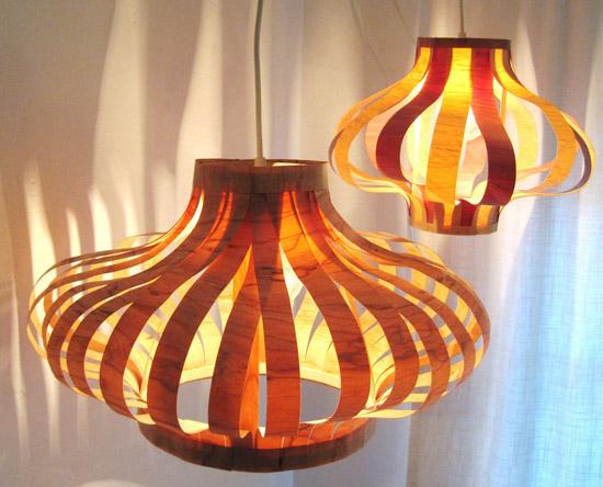Como hacer lamparas colgantes con laminas de madera - Luminaire a faire soi meme ...